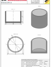 Bazin cilindric BC DN200/150/15