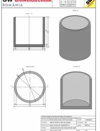 Bazin cilindric BC DN200/200/15