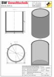 Bazin cilindric BC DN250/300/15 SW UMWELTTECHNIK -