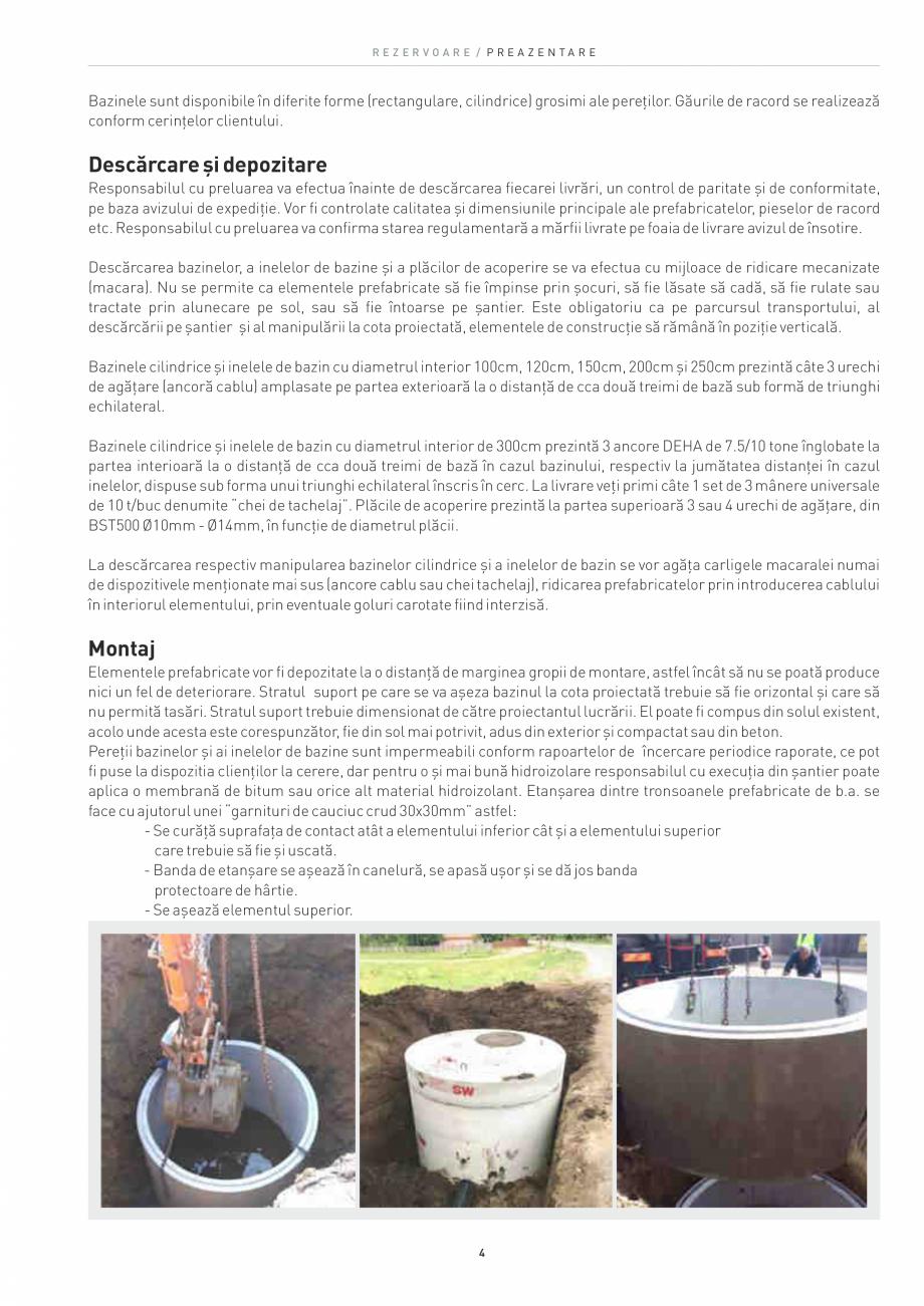 Pagina 4 - Rezervoare din beton SW UMWELTTECHNIK Catalog, brosura Romana se la dispozitia...