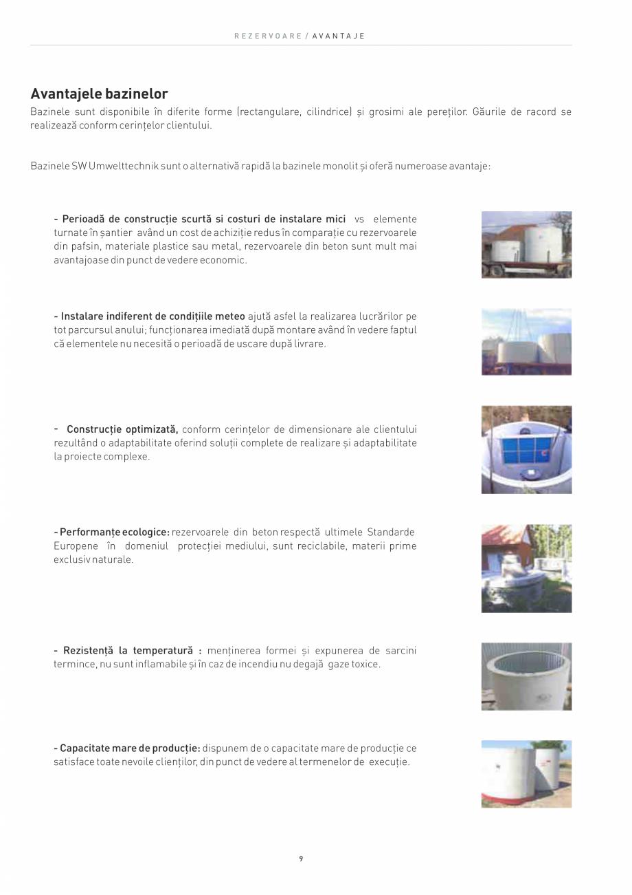 Pagina 9 - Rezervoare din beton SW UMWELTTECHNIK Catalog, brosura Romana