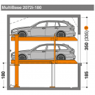 MultiBase 2072i 180 - Sistem de parcare hidraulic - MultiBase 2072i