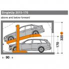 SingleUp 2015 170 - 320 - Sistem de parcare hidraulic - SingleUp 2015
