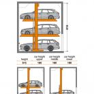 SingleUp 3015 615 - Sistem de parcare hidraulic - SingleUp 3015