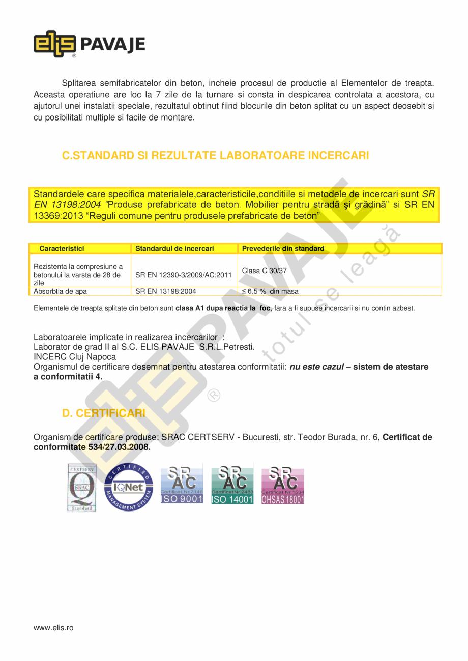 Pagina 2 - Borduri ELIS PAVAJE Element treapta splitat Fisa tehnica Romana e metalice folosind...