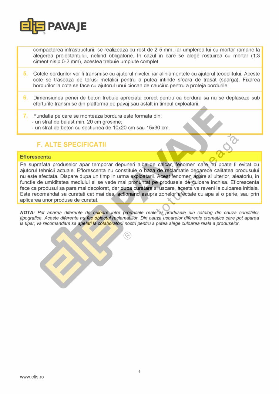 Pagina 4 - Bordura ELIS PAVAJE B6.2 Fisa tehnica Romana  deseurile menajere. Deseurile rezultate din...