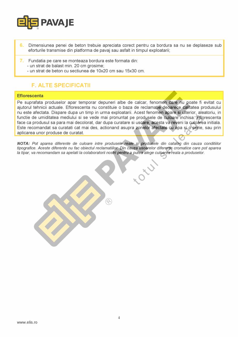 Pagina 4 - Bordura ELIS PAVAJE B7 Fisa tehnica Romana eseurile menajere. Deseurile rezultate din...