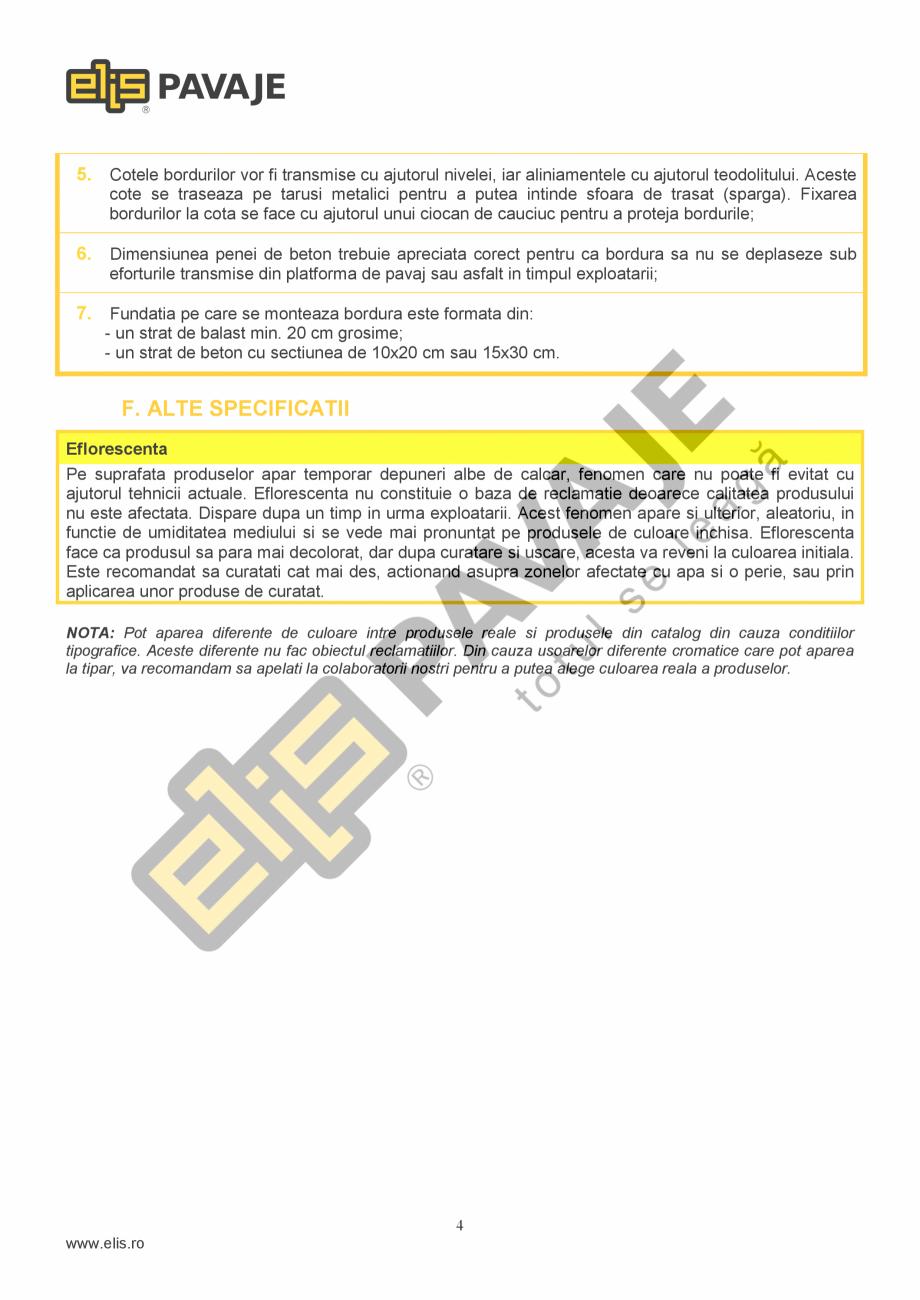 Pagina 4 - Bordura ELIS PAVAJE B11 Fisa tehnica Romana eseurile menajere. Deseurile rezultate din...