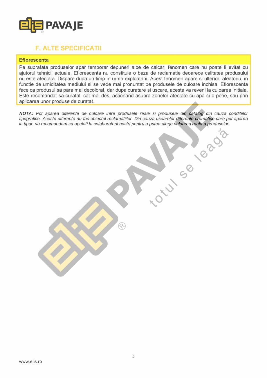 Pagina 5 - Borduri ELIS PAVAJE Elemente racord dreapta, Elemente racord stanga Fisa tehnica Romana n...