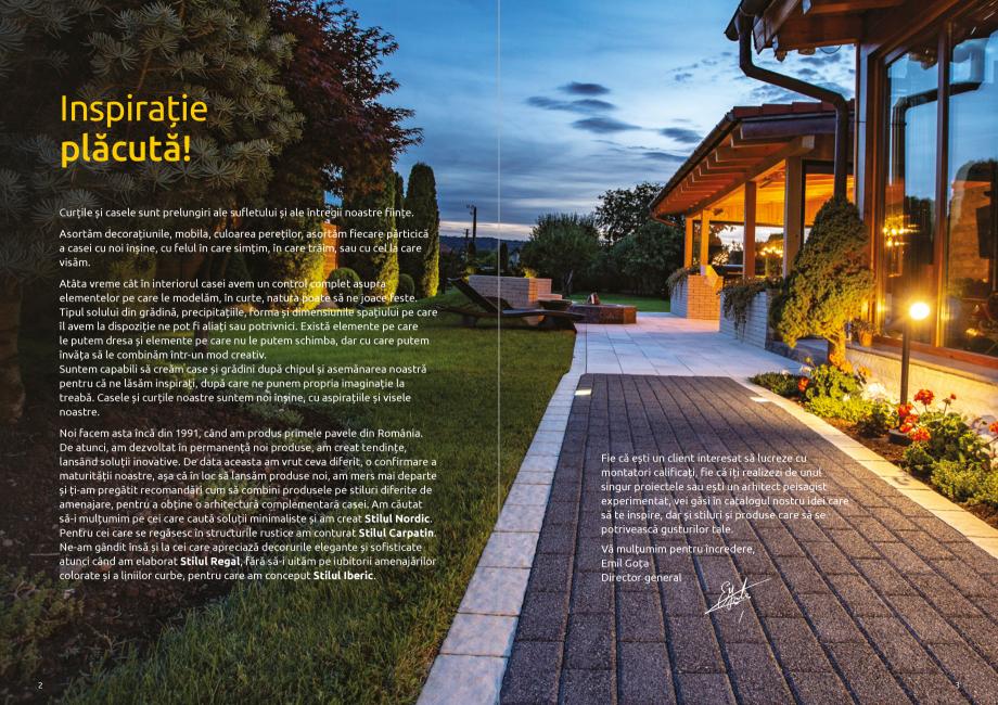 Pagina 3 - Catalog de produse si idei de amenajare 2020-2021  - Rigole din beton compact pentru zone...