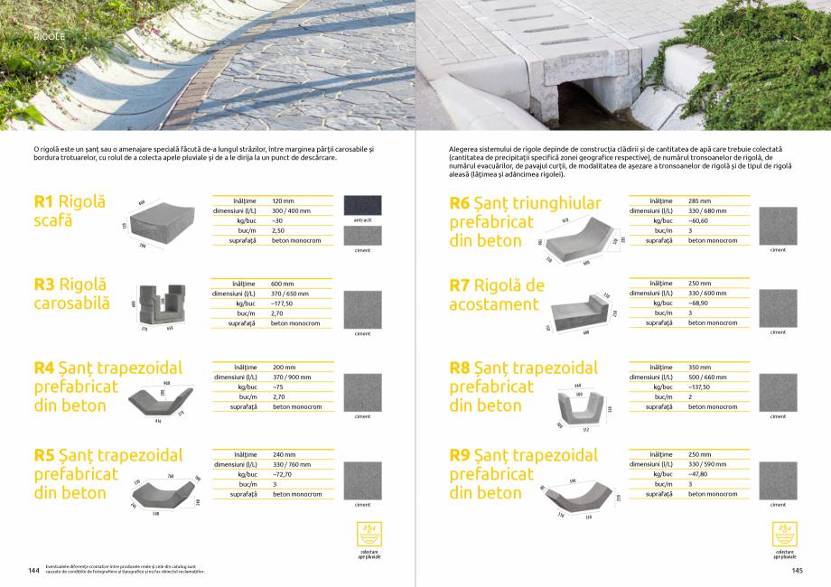Pagina 74 - Catalog de produse si idei de amenajare 2020-2021  - Rigole din beton compact pentru...
