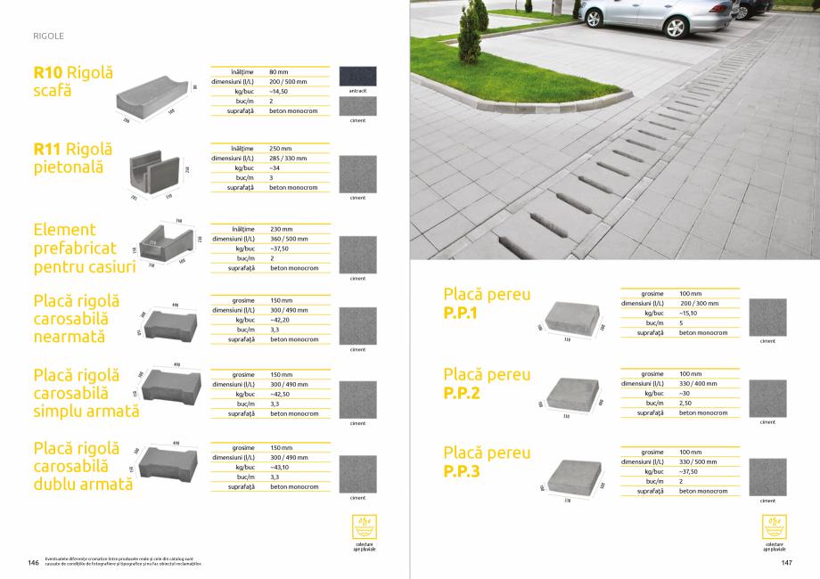 Pagina 75 - Catalog de produse si idei de amenajare 2020-2021  - Rigole din beton compact pentru...
