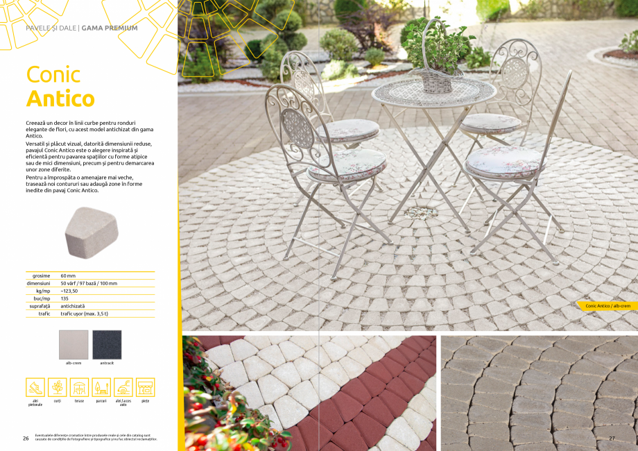 Pagina 15 - Catalog de produse si idei de amenajare 2020-2021 - Blocheti si boltari din beton pentru...