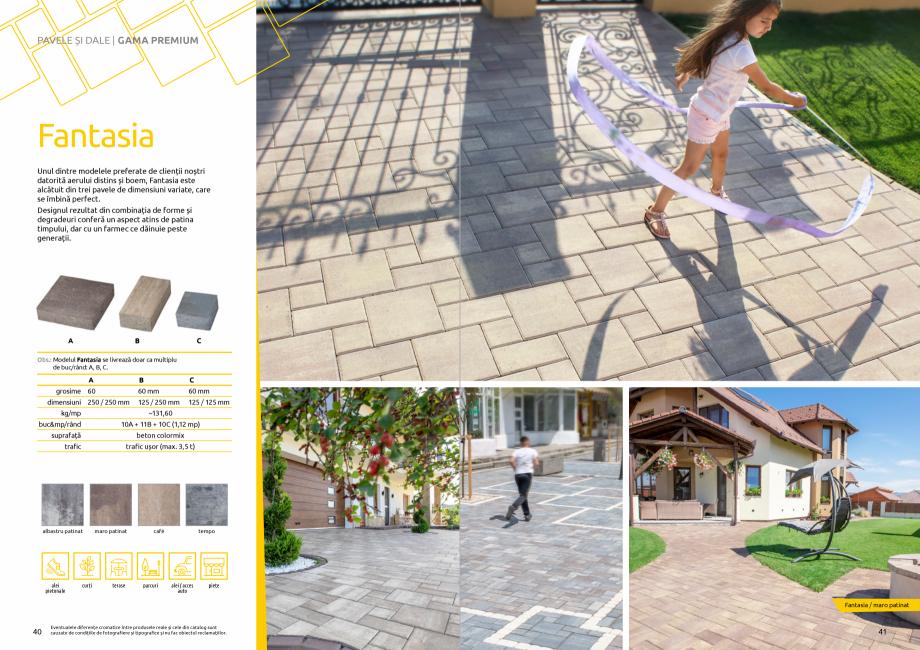 Pagina 22 - Catalog de produse si idei de amenajare 2020-2021 - Blocheti si boltari din beton pentru...