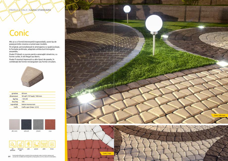 Pagina 34 - Catalog de produse si idei de amenajare 2020-2021 - Blocheti si boltari din beton pentru...