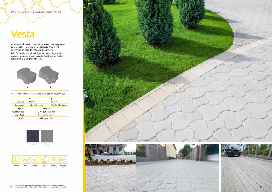 Pagina 47 - Catalog de produse si idei de amenajare 2020-2021 - Blocheti si boltari din beton pentru...