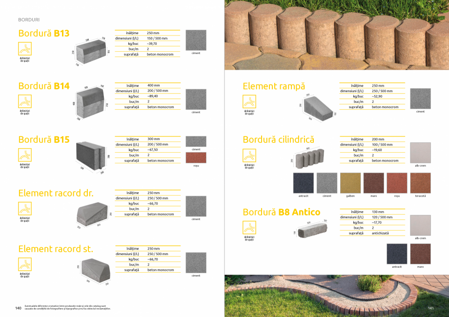 Pagina 72 - Catalog de produse si idei de amenajare 2020-2021 - Blocheti si boltari din beton pentru...