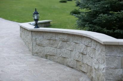 Bloc zid premium alb-crem - detaliu Premium Blocuri de zid