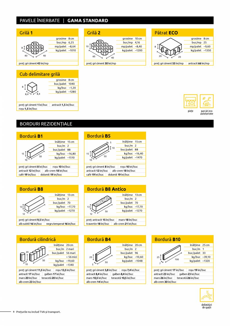 Pagina 8 - Oferta de produse Elis_Editia Februarie 2021 - Rigole din beton compact pentru trafic...