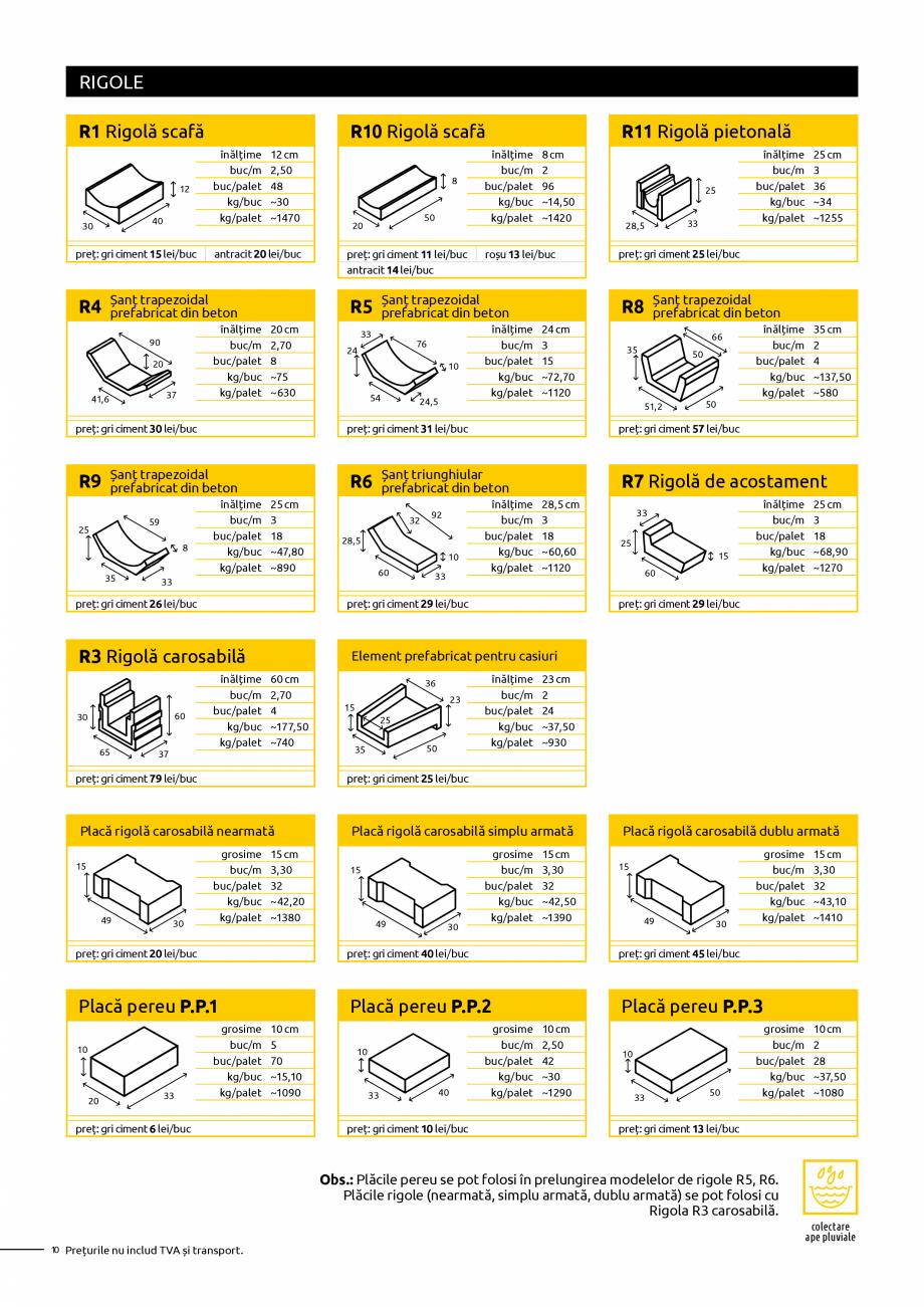 Pagina 10 - Oferta de produse Elis_Editia Februarie 2021 - Rigole din beton compact pentru trafic...