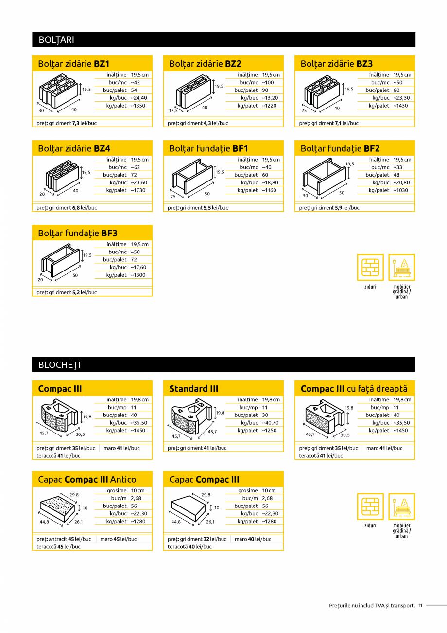 Pagina 11 - Oferta de produse Elis_Editia Februarie 2021 - Rigole din beton compact pentru trafic...