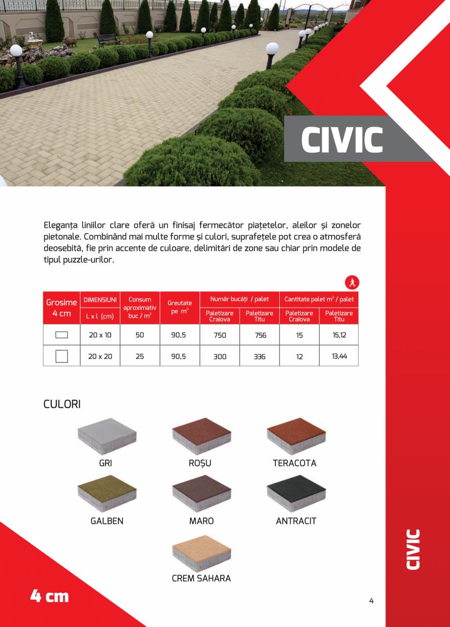 Pagina 4 - Pavaj rezidential din beton ELPRECO BDZ, BDZN, BDZR, BDZT1, BDZT2, EKOPOR, CIVIC,...