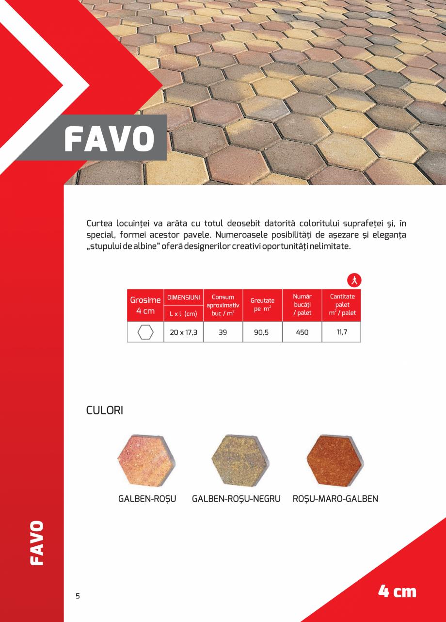 Pagina 5 - Pavaj rezidential din beton ELPRECO BDZ, BDZN, BDZR, BDZT1, BDZT2, EKOPOR, CIVIC,...