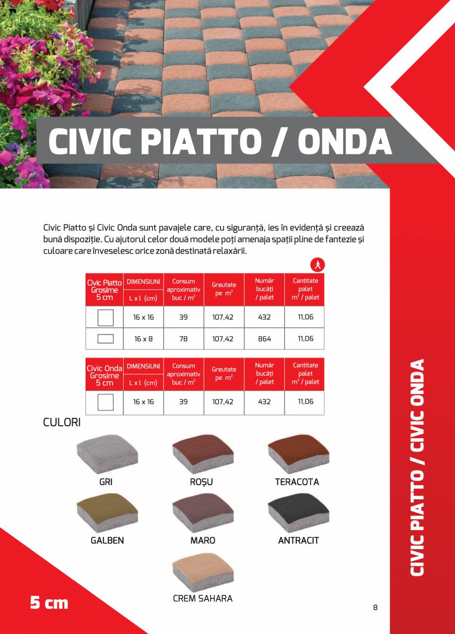 Pagina 8 - Pavaj rezidential din beton ELPRECO BDZ, BDZN, BDZR, BDZT1, BDZT2, EKOPOR, CIVIC,...