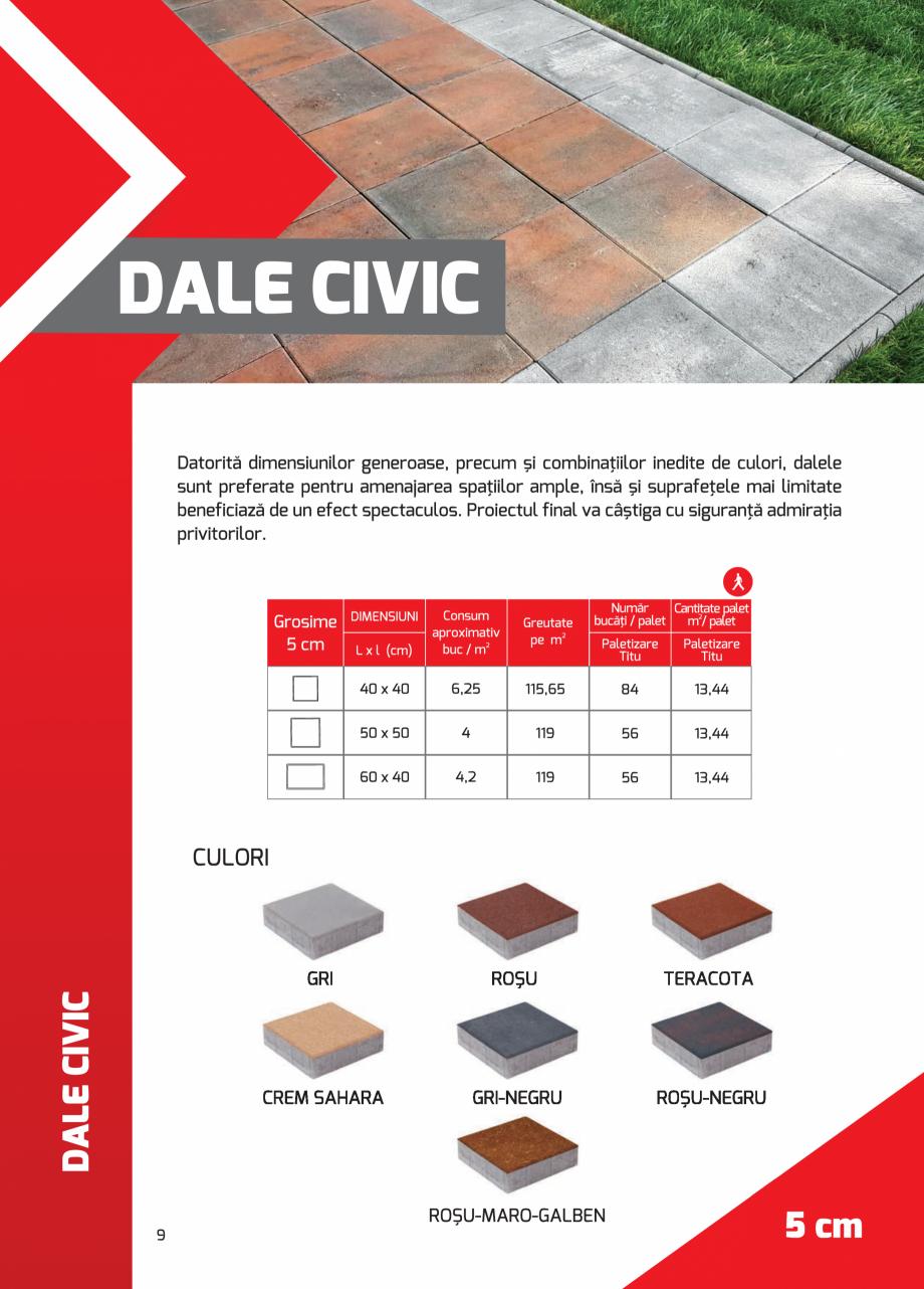 Pagina 9 - Pavaj rezidential din beton ELPRECO BDZ, BDZN, BDZR, BDZT1, BDZT2, EKOPOR, CIVIC,...