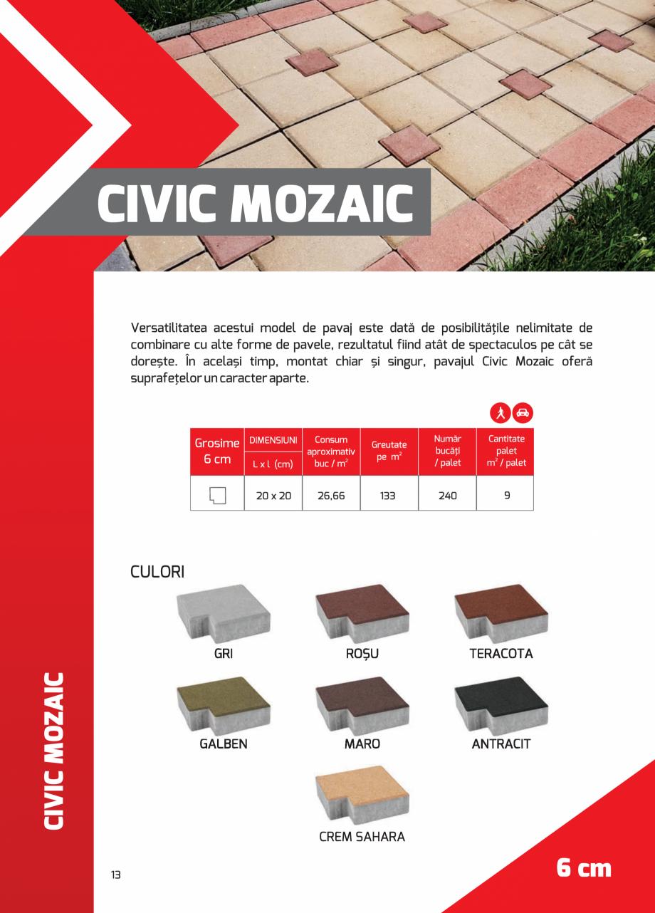 Pagina 13 - Pavaj rezidential din beton ELPRECO BDZ, BDZN, BDZR, BDZT1, BDZT2, EKOPOR, CIVIC,...