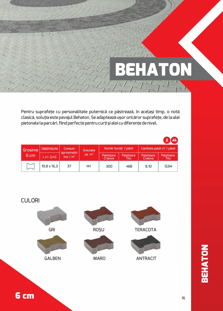 Pagina 16 - Pavaj rezidential din beton ELPRECO BDZ, BDZN, BDZR, BDZT1, BDZT2, EKOPOR, CIVIC,...