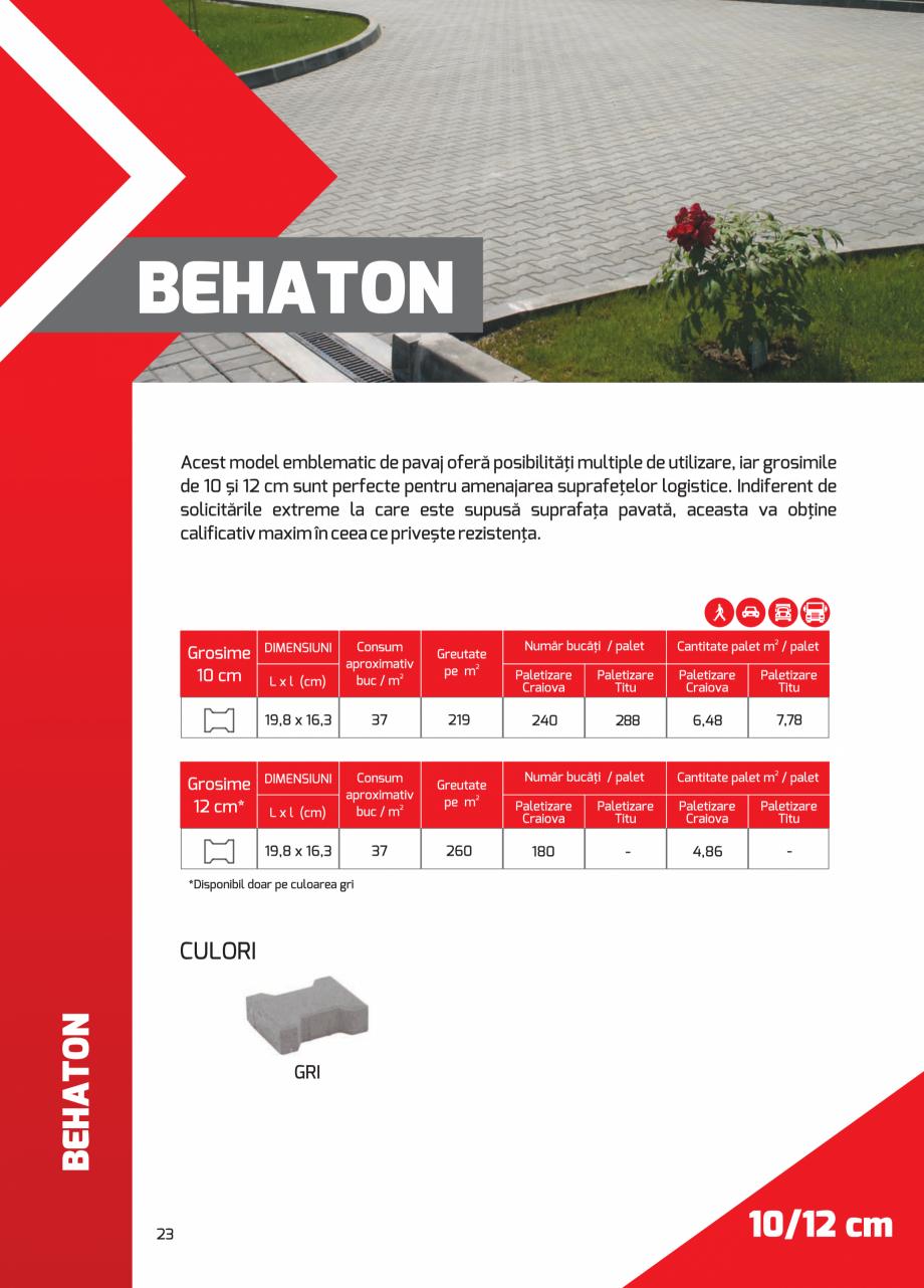 Pagina 23 - Pavaj rezidential din beton ELPRECO BDZ, BDZN, BDZR, BDZT1, BDZT2, EKOPOR, CIVIC,...