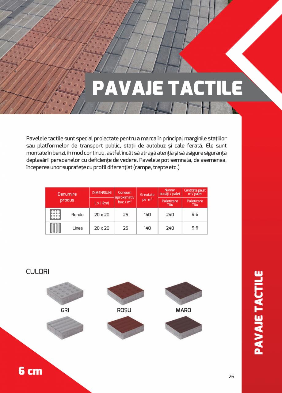 Pagina 26 - Pavaj rezidential din beton ELPRECO BDZ, BDZN, BDZR, BDZT1, BDZT2, EKOPOR, CIVIC,...
