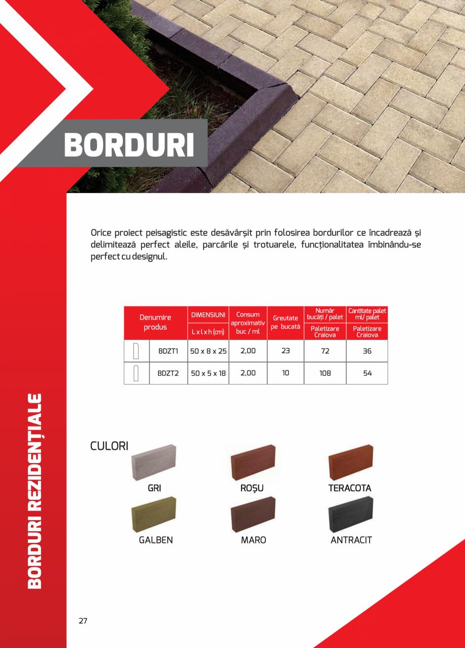 Pagina 27 - Pavaj rezidential din beton ELPRECO BDZ, BDZN, BDZR, BDZT1, BDZT2, EKOPOR, CIVIC,...