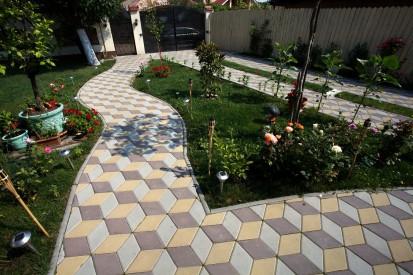 Pavaj din beton - gradina RELIEF Elemente pavaj din beton