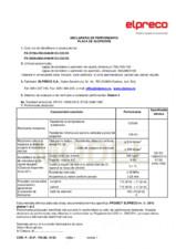 Declaratie de performanta - Placa de acoperire ELPRECO