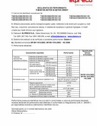 Declaratie de performanta - Tuburi D300 / D1000