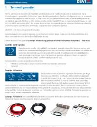Garantii DEVI Electric heating