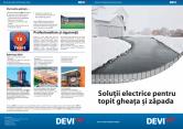Solutii electrice pentru topit gheata si zapada DEVI