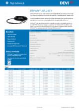 Cabluri de incalzire pentru degivare - 230V DEVI