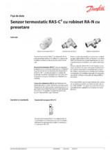 Senzor termostatic RAS-C² cu robinet RA-N cu presetare DANFOSS
