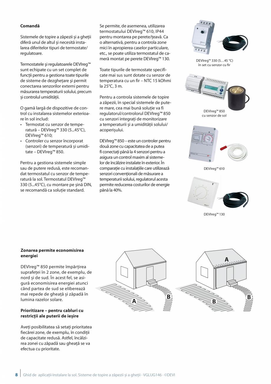 Pagina 8 - Instalarea pe sol. Sisteme de topire a zapezii si a ghetii. Ghid de aplicati DEVI...