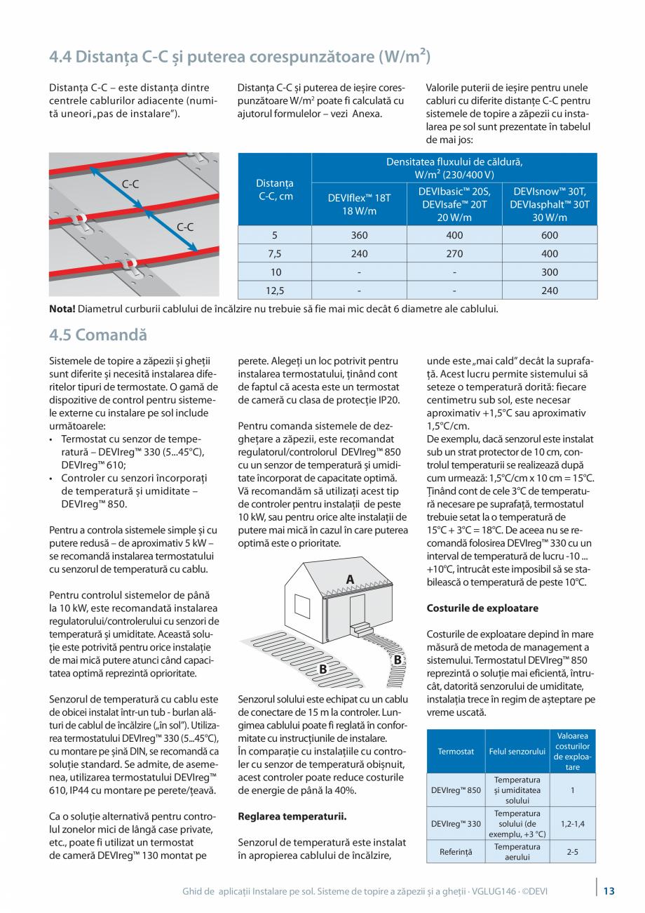 Pagina 13 - Instalarea pe sol. Sisteme de topire a zapezii si a ghetii. Ghid de aplicati DEVI...