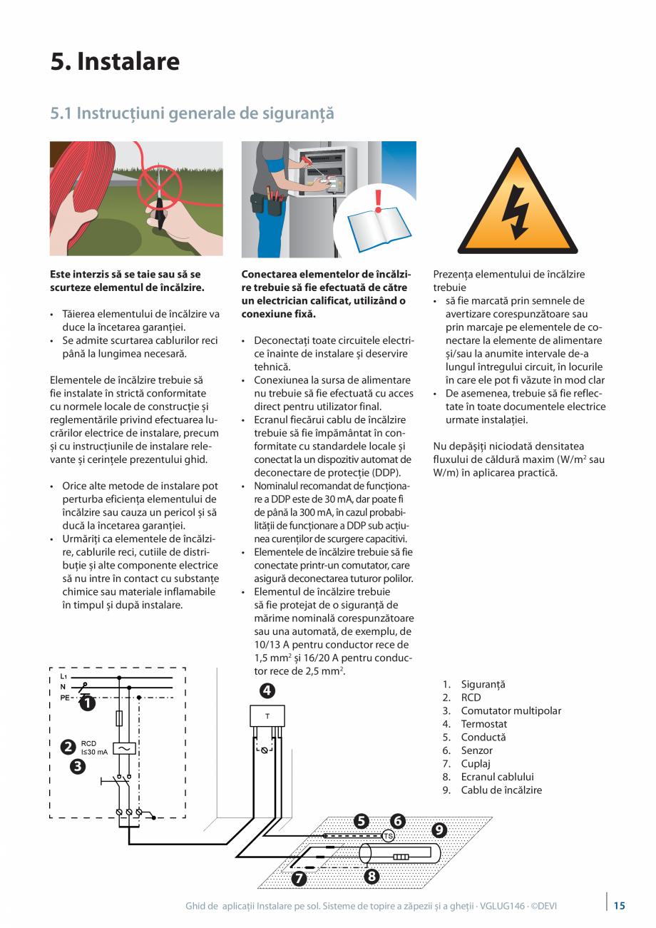Pagina 15 - Instalarea pe sol. Sisteme de topire a zapezii si a ghetii. Ghid de aplicati DEVI...