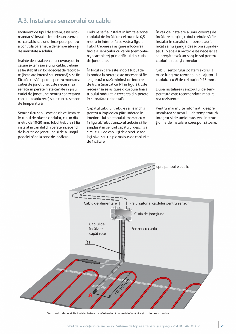 Pagina 21 - Instalarea pe sol. Sisteme de topire a zapezii si a ghetii. Ghid de aplicati DEVI...