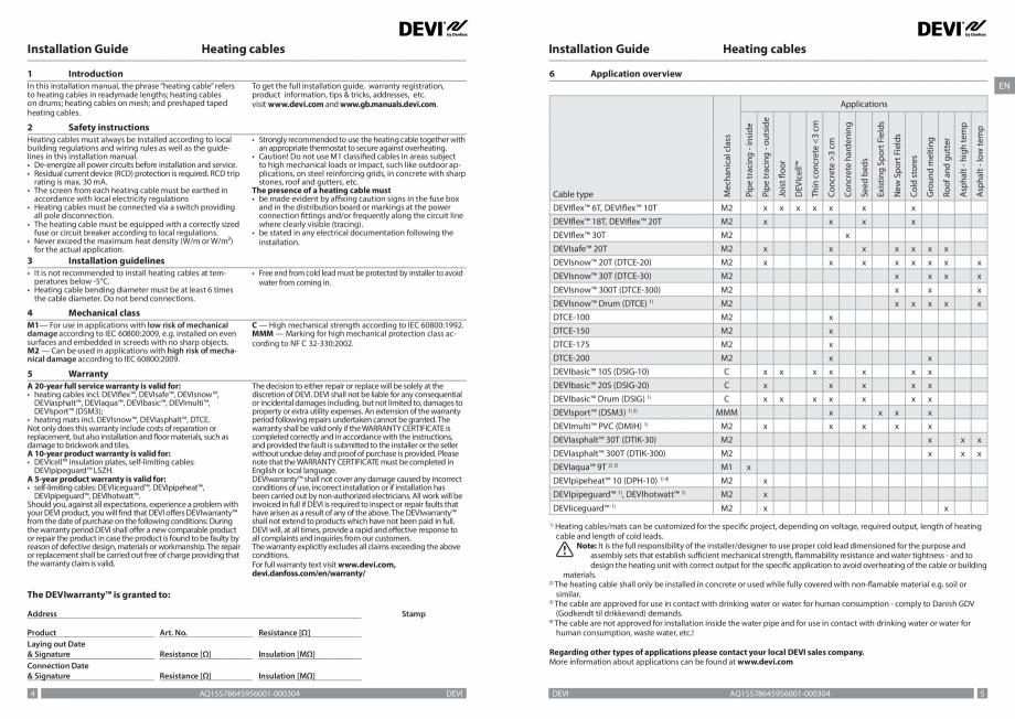 Pagina 3 - Ghid de instalare - cabluri de incalzire DEVI Instructiuni montaj, utilizare Bulgara,...