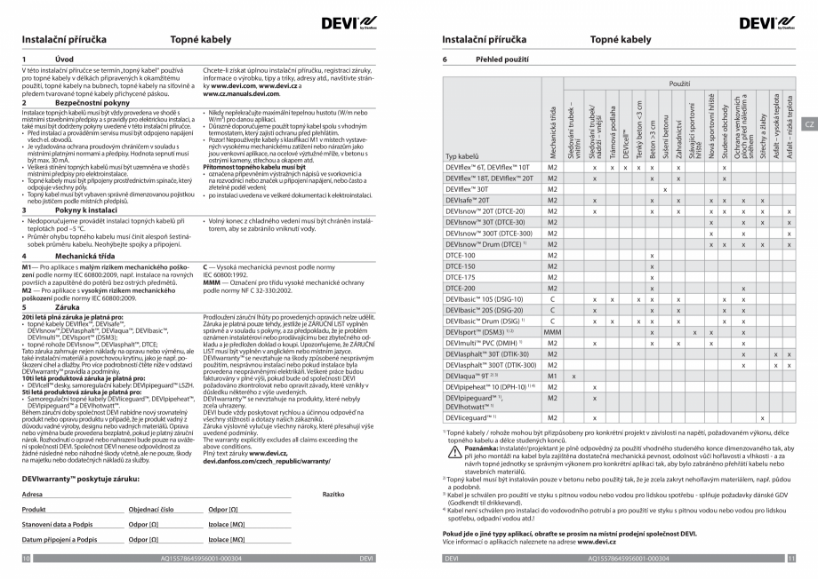 Pagina 6 - Ghid de instalare - cabluri de incalzire DEVI Instructiuni montaj, utilizare Bulgara,...