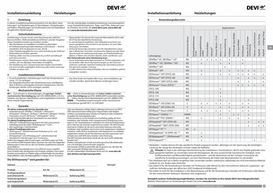 Pagina 7 - Ghid de instalare - cabluri de incalzire DEVI Instructiuni montaj, utilizare Bulgara,...