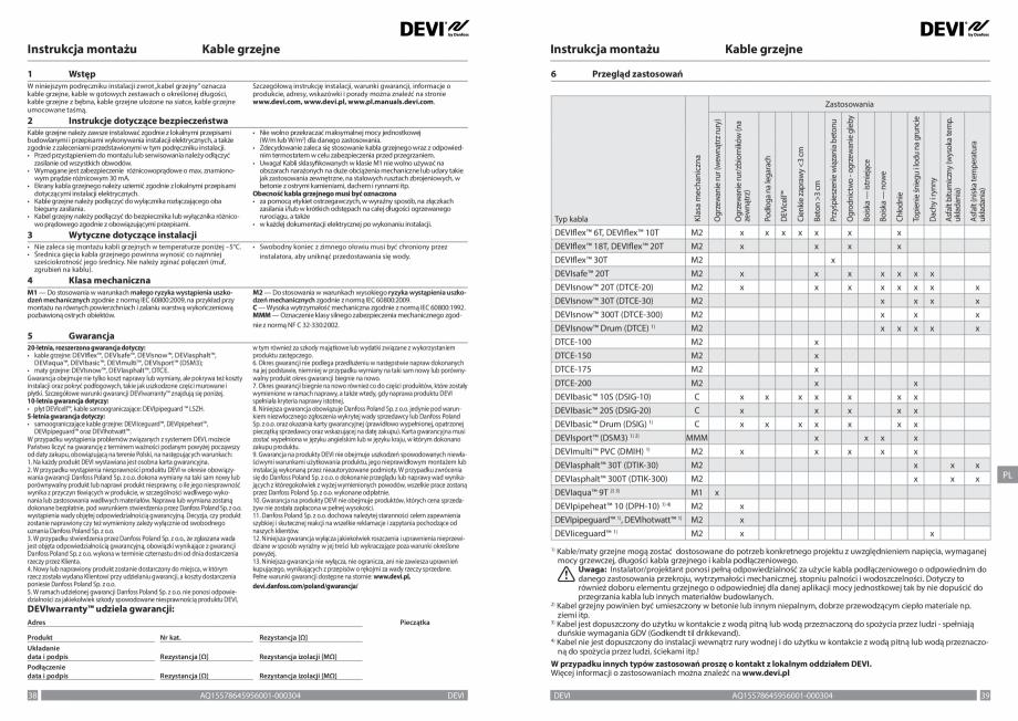 Pagina 20 - Ghid de instalare - cabluri de incalzire DEVI Instructiuni montaj, utilizare Bulgara,...