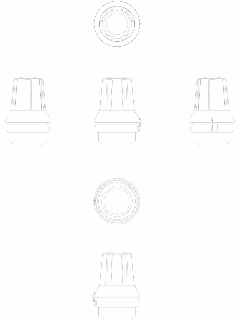 Pagina 1 - CAD-DWG Senzor termostatic de radiator - 2D DANFOSS Detaliu de produs RAS-C